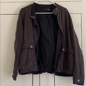 free people distressed bomber jacket